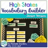 High Stakes Testing: Vocabulary Builder - For 1st through