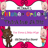 Higher Order Thinking Skills - task cards {The Three Little Pigs}