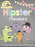 Hipster Monster in Daily 5 and CAFE (Freebie)