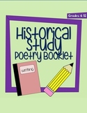 Middle School Historical Study Poetry Booklet - Completely