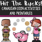 Canadian Coin Activities, Posters  and Printables - Hit th