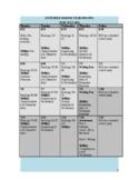 Holes Unit Calendar with agendas