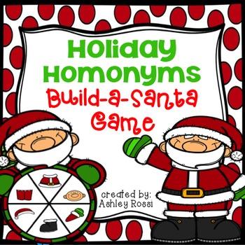 Holiday Homonyms: Build A Santa Game