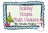 Holiday Hoopla Math Centers