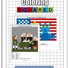 Holiday: Independence Day Math Coloring
