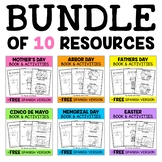 Guided Reading Mini-Books for Spring (English & Spanish)