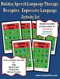 Holiday Speech Language Therapy: Receptive-Expressive  Bin