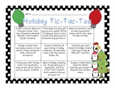 Holiday Tic Tac Toe Choice Board