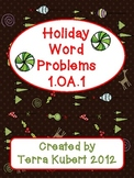 Holiday Word Problems 1.OA.1