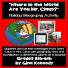 """Holiday Christmas """"Text Message"""" World Geography"""