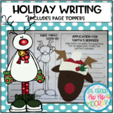 Holiday Writing with Page Toppers...simple craft and writi