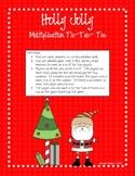 Holly Jolly Multiplication Tic-Tac-Toe