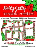 Holly Jolly Templates {FREEBIE}