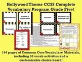 Hollywood Theme Grade Five CCSS Complete Vocabulary Program