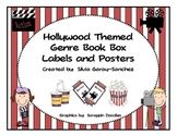 Hollywood Themed Genre Book Basket Labels and Posters
