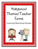 Hollywood Themed Teacher Forms