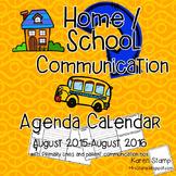 Home/School Communication Binder:  Calendar with Parent Co