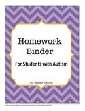 Homework Binder for Kids with Autism