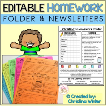 Homework Folder and Newsletters