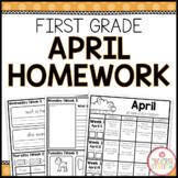 Homework Packet: First Grade   April