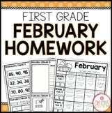 Homework Packet: First Grade   February