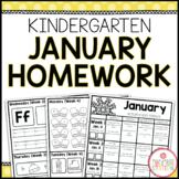 Homework Packet: Kindergarten   January
