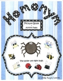Homonyms, A Picture Book with worksheets