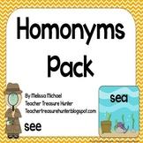 Homonyms Pack - Game, posters, bulletin board, worksheets