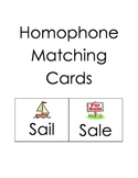 Homophone Match Cards