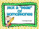 "Homophone/Homonym ""Pears"""