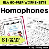 Homophones Common Core Practice Sheets L.1.4