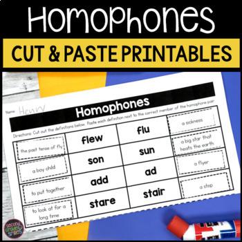 Homophones: Cut and Paste Activities