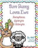 Homophones, Synonyms and Antonyms - Sum Bunny Loves Ewe
