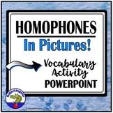Homophones in Pictures PowerPoint