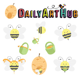 Honey Bee Clip Art - Great for Art Class Projects!