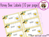 Honey Bee: Labels (10 per page)