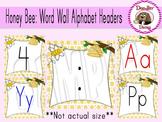 Honey Bee: Word Wall Alphabet Headers