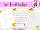 Honey Bee: Writing Paper (Blank, Lined, Primary Lined)