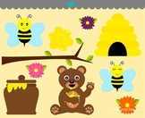 Honey Bees Clip Art