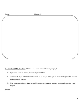 Hoops by Walter Dean Myers Complete Unit Assessment