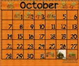 Hop Into October!  Frog Themed Calendar Activities for the