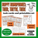 Hoppy Homophones – Their, There, and They're task card and