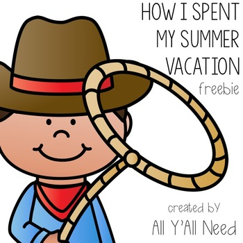 How I Spent My Summer Vacation Lesson Freebie