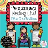 How-To Writing Unit Plus Craftivities {Procedural Writing}