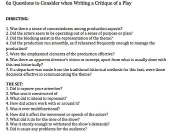 How to write a critique essay - MIRACLE CONCERTS