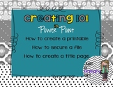 How to create printables in Power Point Movie