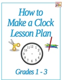 How to make a clock - Editable Lesson Plan