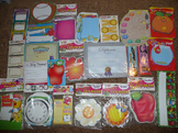 Huge Lot of Bulletin Board Cutouts , Awards, and Nametags