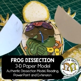 3-D Frog Anatomy Interactive Science Notebook Model for Di