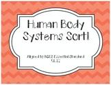 Human Body System Sort Activity- North Carolina NCES Aligned!